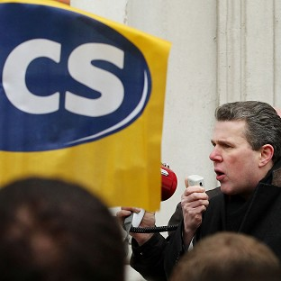 Mark Serwotka, General Secretary of the Public and Commercial Services Union.