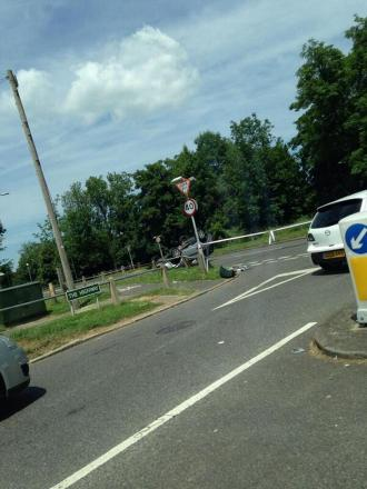 The scene in Court Road, Orpington, yesterday. Photo: Mike Driscoll
