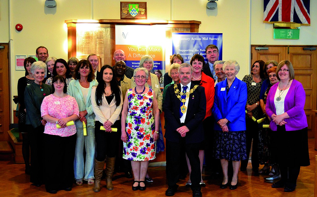 Epsom and Ewell Volunteer Awards 2014 took place at Epsom town hall