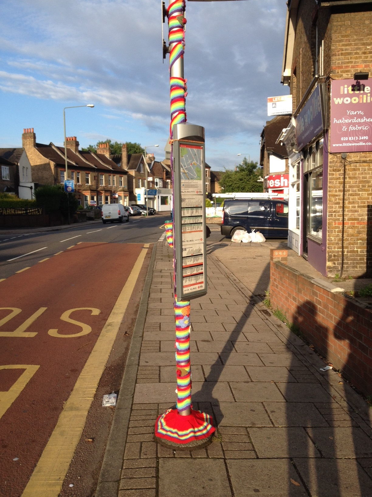 Bus stop knitover