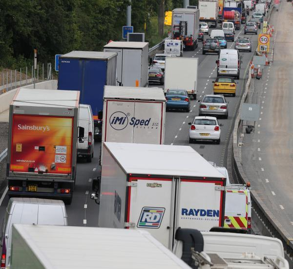 Severe delays are expected on the M25 this morning