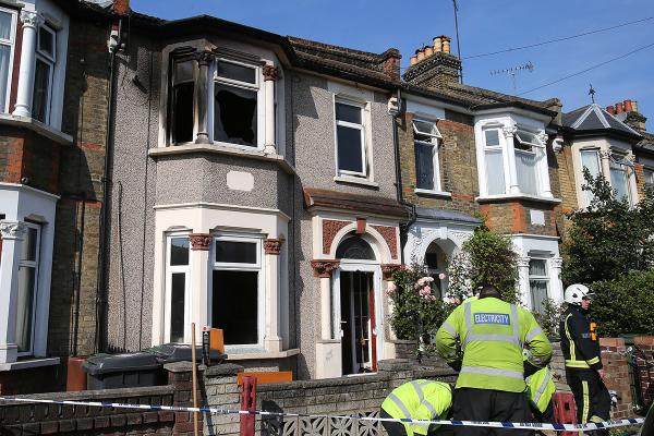 Around 21 firefighters tackled  the blaze