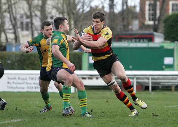 Keep on the park: Richmond's Rob Alexander in action at the Athletic Ground