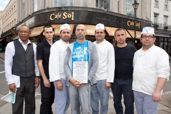 Warning as 22-year-old Cafe Sol faces eviction from Greenwich town centre home