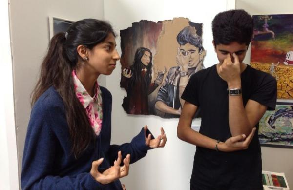 Art impression: students re-create an image of the Guernica mural
