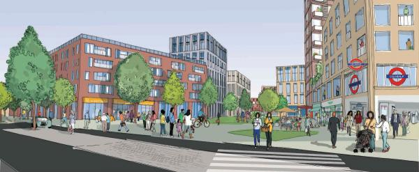 A sketch of what the new Colindale Plaza  could look like.