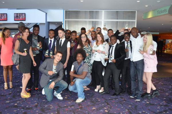 Teenagers from the College of Haringey, Enfield and North East London dressed to impress for the end-of-term event at Cineworld Enfield