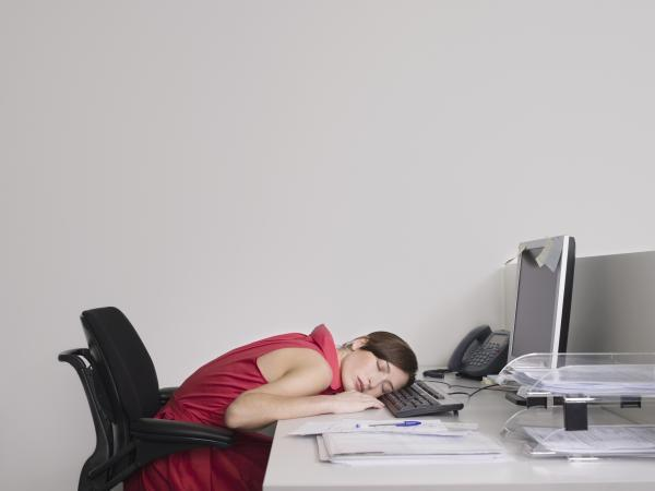 More than half of London workers in a survey have fallen asleep at work