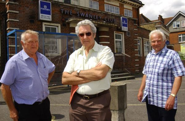 This Is Local London: Left to right: members David Knight, Charles Moore and John Moore.