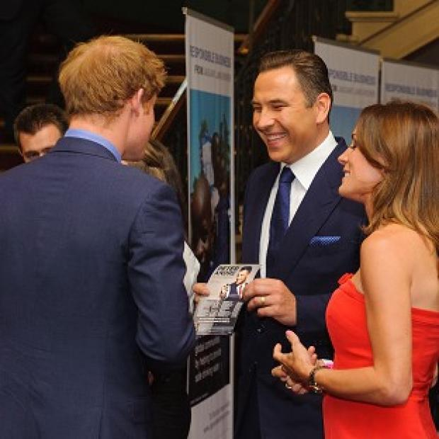 This Is Local London: Prince Harry meets David Walliams and Natalie Pinkham at the Royal Albert Hall