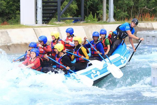 Pupils ride white water rapids