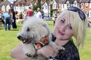 Jade Iles and dog Alfie entered the owner/dog lookalike competition