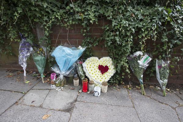 Flowers pay tribute to murdered man