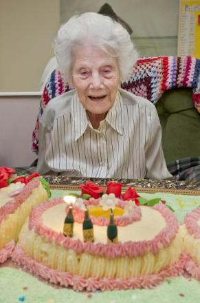 Sophie Bravery celebrated her 100th birthday on Bastille Day