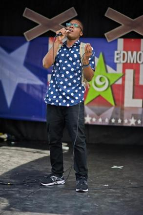 Heat One winner Davis Elike peforming at Edmonton's Got Talent 2014