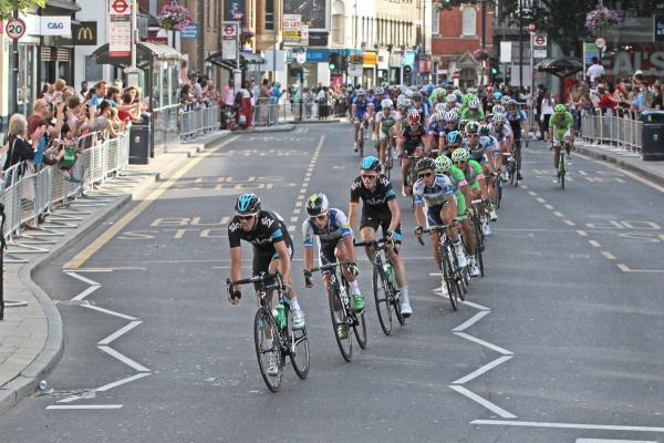 RideLondon cyclists pass through the area in previous years