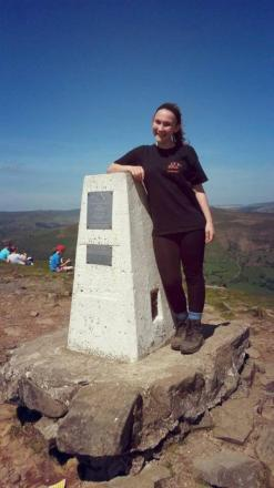 Alice Dowek in training on Sugar Loaf mountain, near Abergavenny