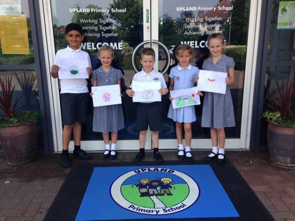Competition winners, from left to right: Adesh Sahni, 9, Iona Saunders, 8, Drew Carter, 8, Tilly Palmer, 7, and Emil