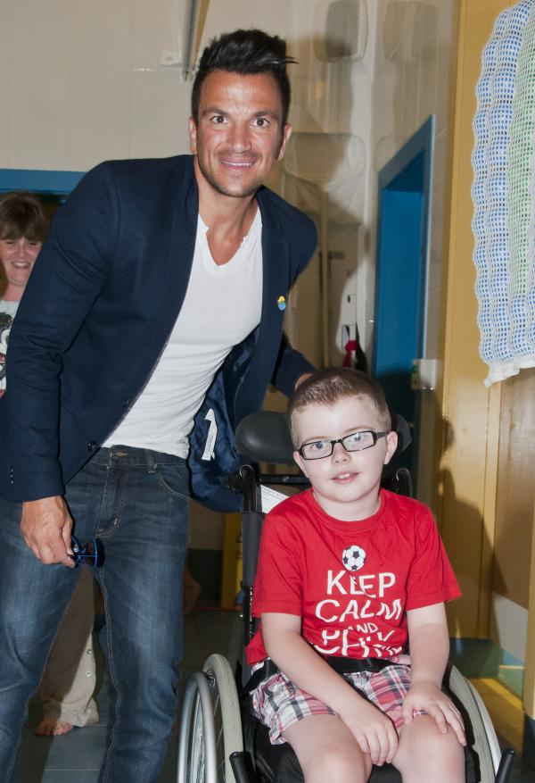 Peter Andre visited The Children's T