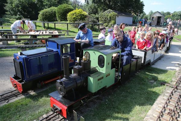 Visitors ride on Chingford & District Model Engineering Club engines in Ridgeway Park