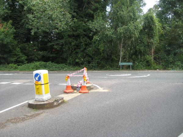 The scene of the crash this morning (August 4).