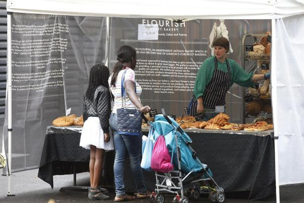 Tottenham bakery Flourish at Tottenham Green Market