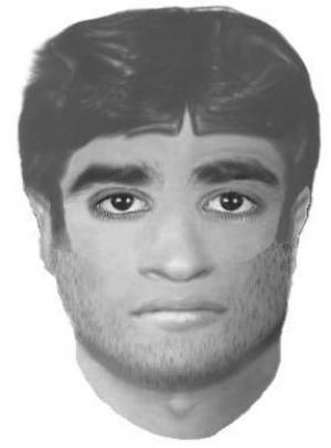 An E-fit of the man being hunted by police