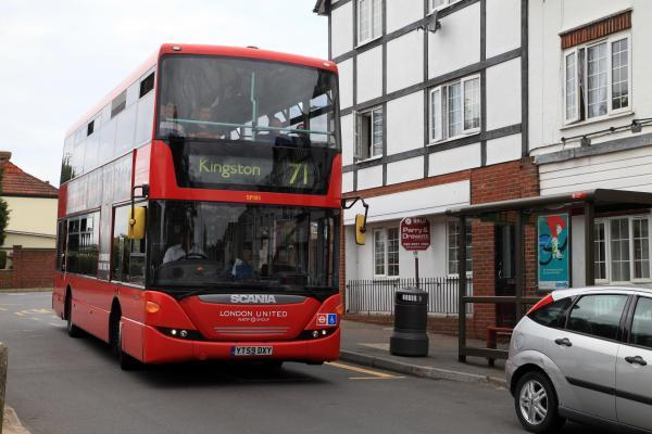 A 71 bus at Copt Gilders - not the one pictured - failed to stop for wheelchair user Eve Hogben