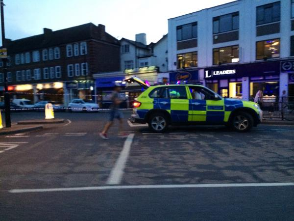 (Photo credit: Geoff Christian): The boy was taken to hospital by ambulance