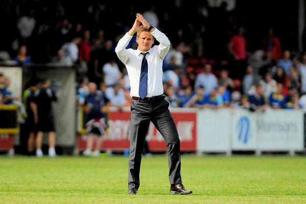 Get behind the lads: Neal Ardley has a message for the Dons