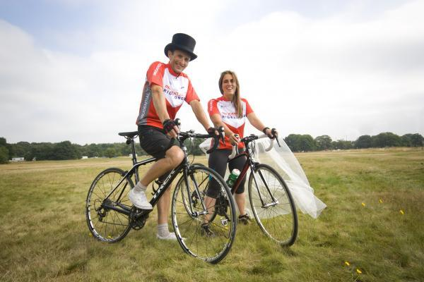 Not your ordinary wedding album: Gary Watson and Lisa Russell will wed in lycra on Sunday