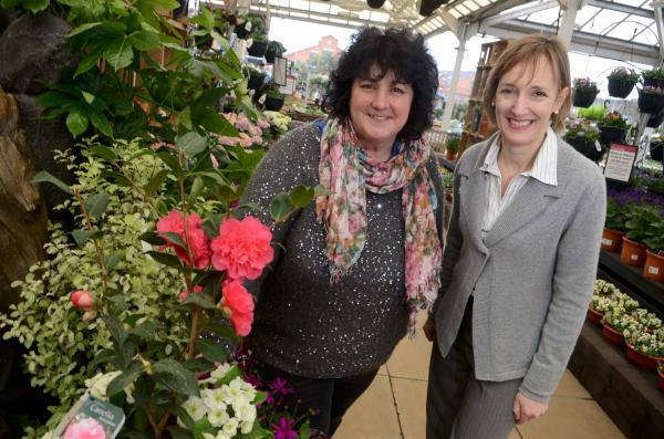 Family business: Sarah Squire (r) praised her wonderful team