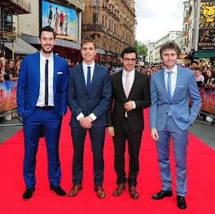 Blake Harrison, Joe Thomas, Simon Bird and James Buckley at the premiere of The Inbetweeners 2
