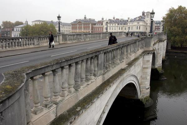 Richmond Bridge: The woman was taken to hospital