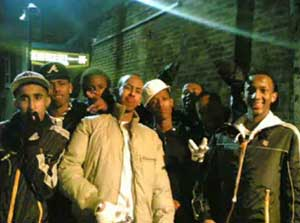 A still from a video posted on the internet featuring the Younger Woolwich Boys, one of the gangs implicated in a series of violent incidents recently