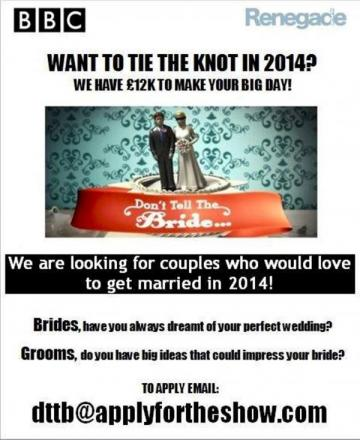 Letter to Editor: Don't Tell Bride looking for couples