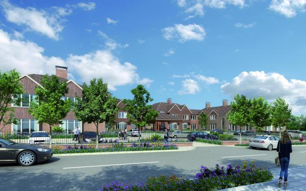 An artist's impression of the proposed senior living community