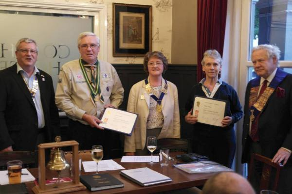 Kew Gardens Rotary: Gave two honours at a surprise ceremony