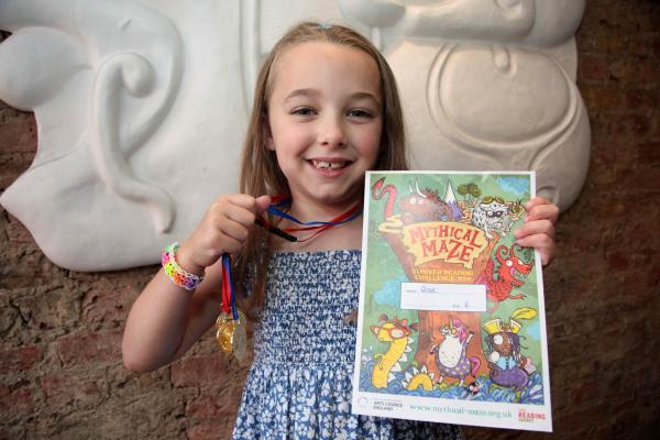 Rose Peeks, six, who has completed the summer challenge