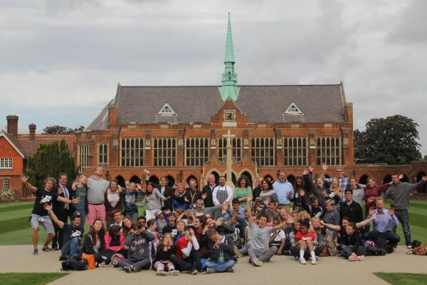 The teachers and students at St John's School in Leatherhead