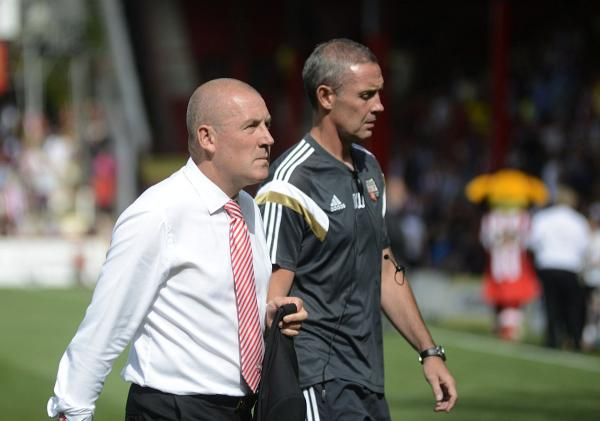 Food for thought: Brentford boss Mark Warburton saw his men threaten on Tuesday but ultimately lacked a cutting edge