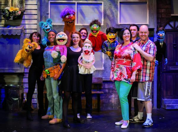 The cast of Avenue Q.