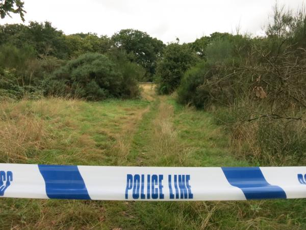 An area of Hollow Ponds was cordoned off yesterday