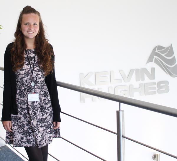 Abbie Vivers is the first apprentice to join the scheme at Kelvin Hughes