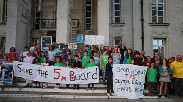 Dozens of divers protested at the town hall in Walthamstow last night