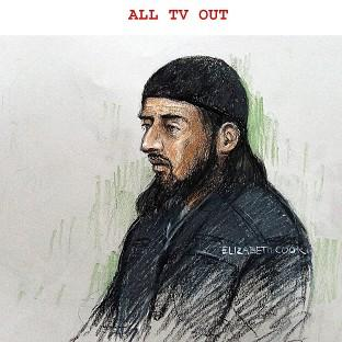 Court sketch of terror suspect Haroon Rashid Aswat , 31, during his extradition hearing in January 2006. Judges have now said he can be extradited to the US (Elizabeth Cook/PA)