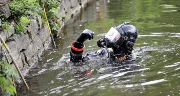 Searching: police frogmen have been called in
