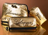 Grab some gold -- toiletry bag, �10; envelope bag , �3; cosmetic bag, �5, all Next