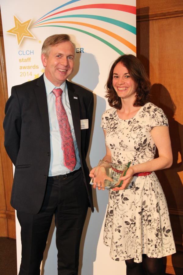 Catherine Pymar , from Tottenham, was awarded the Central London Community Healthcare trophy for 'Partner Award'