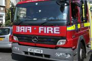 Warehouse damaged in blaze
